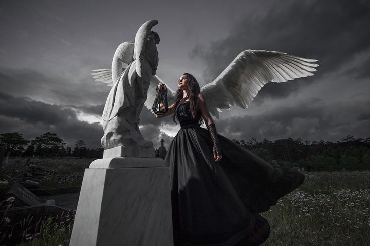 Fantasy, Gothic, Victorian, Black, Silk Dupion, Ball Gown, Angel, Wings, Gothic Wedding Gown,  Photographer: Vanessa Wood from Suede Studios www.suedestudios..... Model, Hair & Makeup: Alyssia Atonio. Styling: Vanessa Wood & Vanessa Burton Designer: V J Burton Gowns