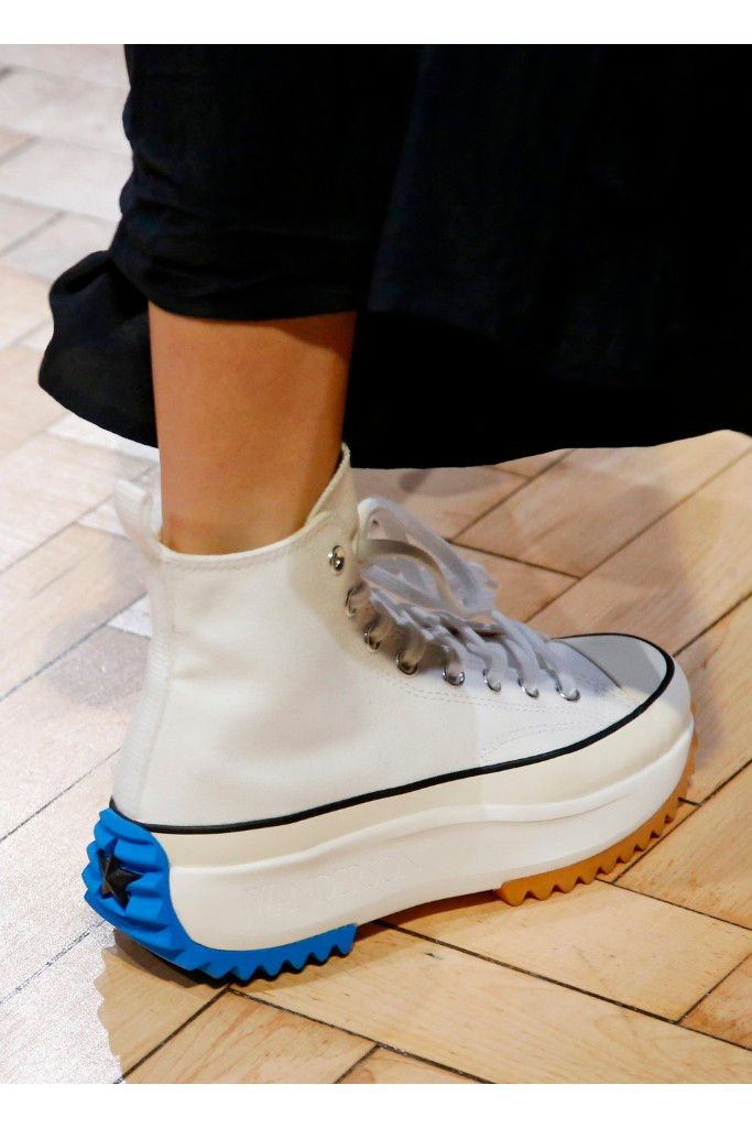 buy online 38335 6440e JW Anderson Runway at London Fashion Week Spring 2019 Photos – Footwear  News