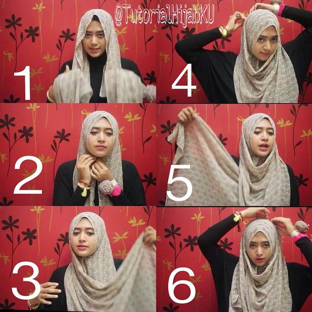 Hijab Tutorials 》6 Steps Full Coverage Hijab Tutorial
