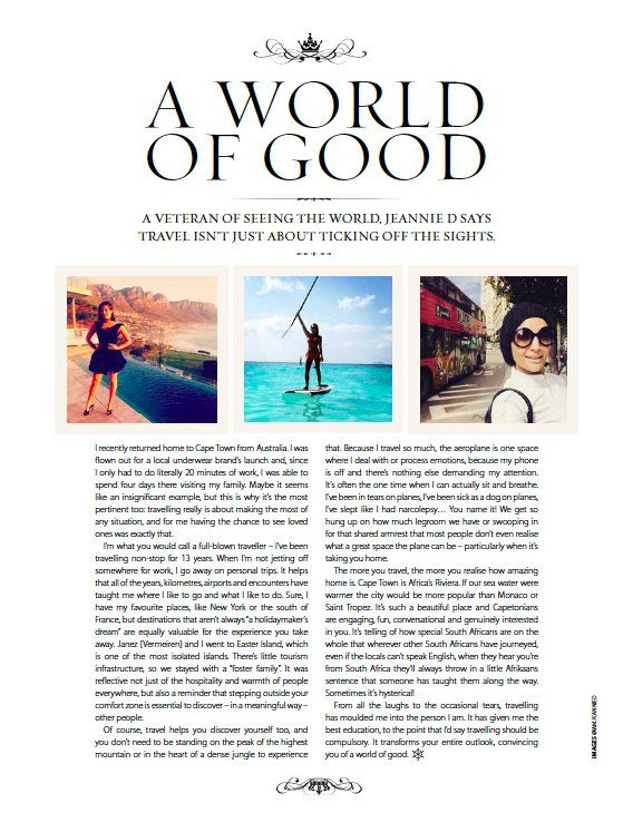 ARTICLE: @Jeannieous says travel isn't just about ticking off the sights... Read more in the latest #ShimmyStyle mag