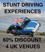 Stunt Drive UK appreciate all of your hard work, so they are pleased to give you a massive 60% discount!  Follow the Stunt Drive UK link on our website.