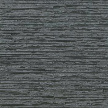 Erismann Brix Slate Brick Effect Wallpaper Grey / Black