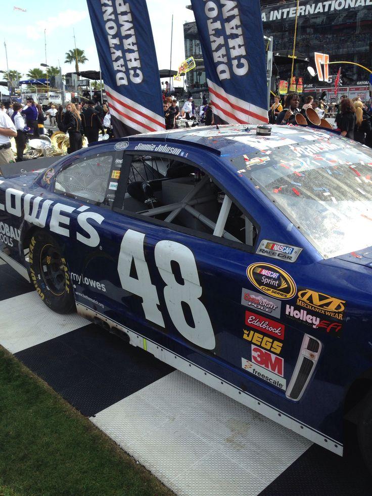 Jimmy Johnson's 2013 Daytona 500 winning car.