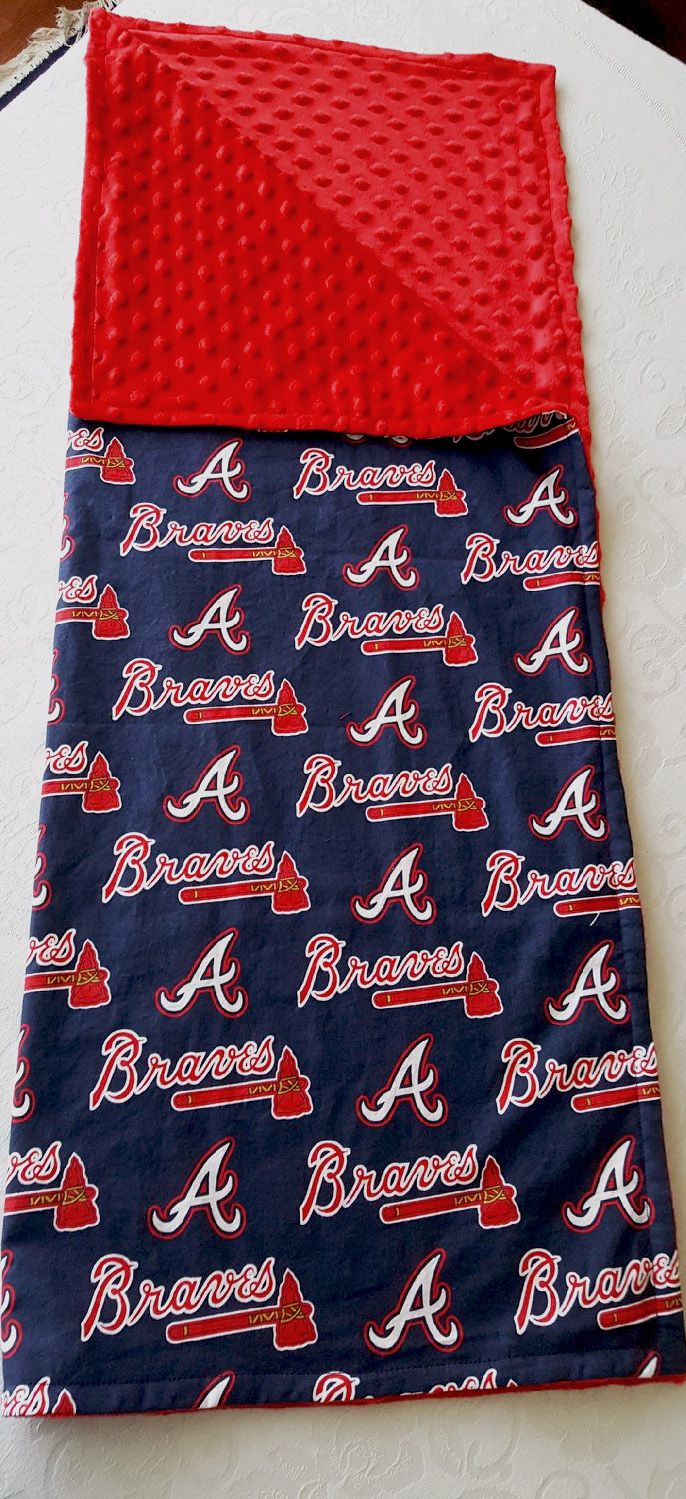 Braves Inspired Baby Blanket