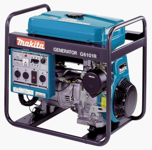 Best Makita G6101R 5,800-Watt 11 HP Portable Power Generator with Electric Start  http://egardeningtools.com/product-category/generators/