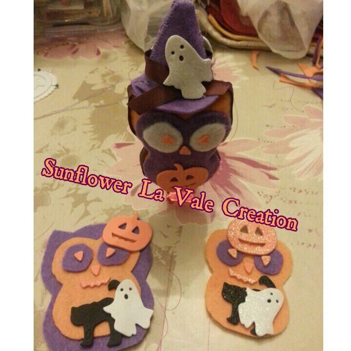 Gufi di halloween! Porta foto/memo e calamite =)