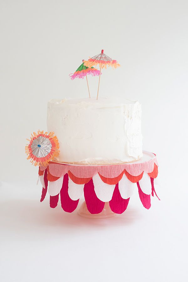 Tropical Cake Stand Bunting DIY