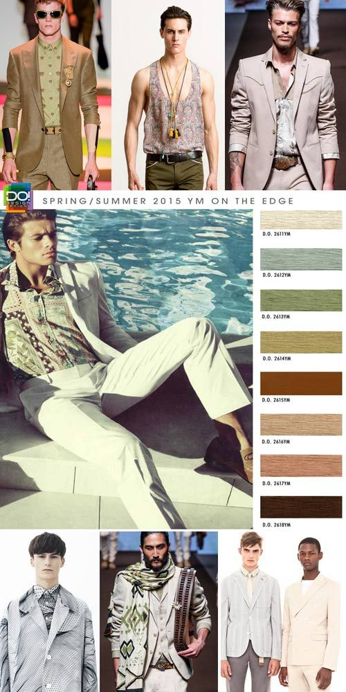 Spring Summer 2015, young men's contemporary color trend report, on the edge