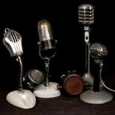 1940s themed party - vintage mics - I don't know why you might need these but they're awesome!