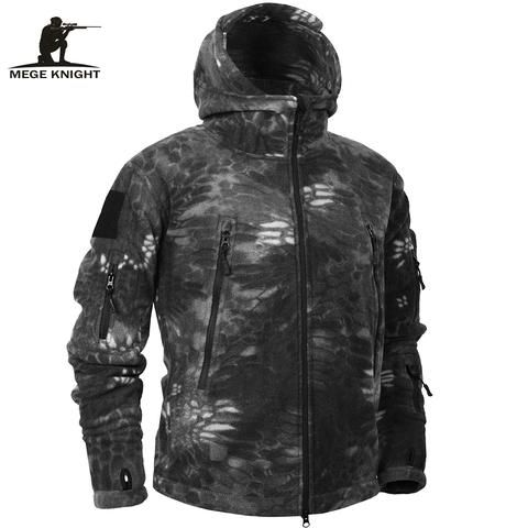 Mege Brand Autumn Winter Military Fleece Camouflage