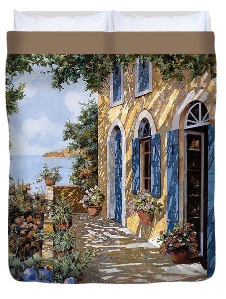Le Porte Blu Duvet Cover by Guido Borelli