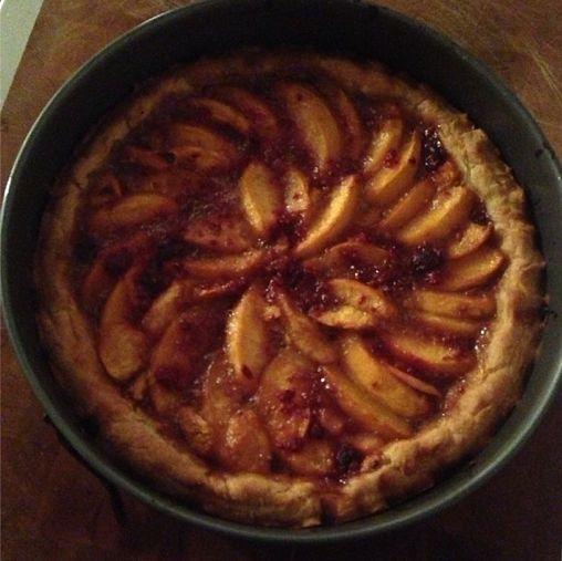 ... tart! with homemade pate brisee crust. #zacposen #baking #tarts #