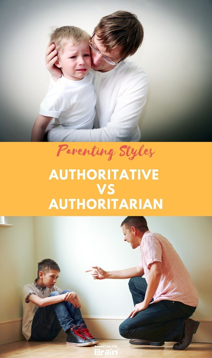 Authoritative vs Authoritarian Parenting Styles Differences Infographic