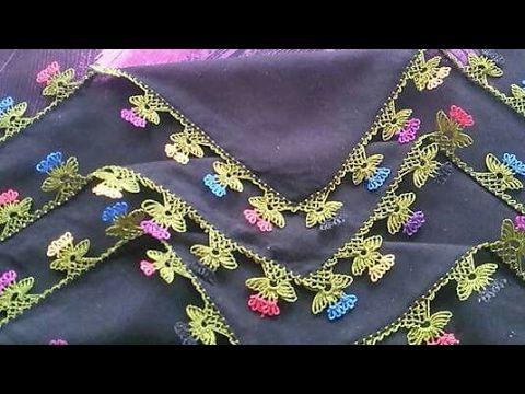 Çiçekli İğne Oyası Yapılışı & igne oyasi modelleri & how to make needle lace tutorial - YouTube