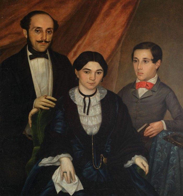 Portretul de familie al unui boier muntean, din perioada paşoptistă.