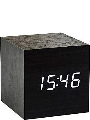 GINGKO Cube Black Click Clock