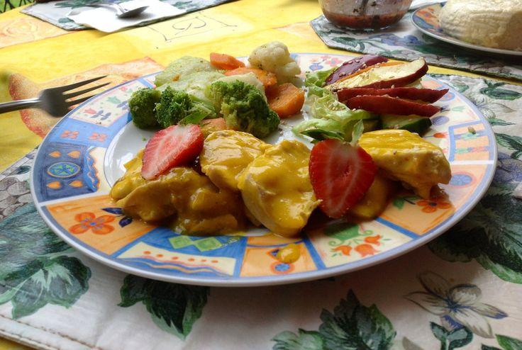 Receta de Pollo en Salsa de Mango