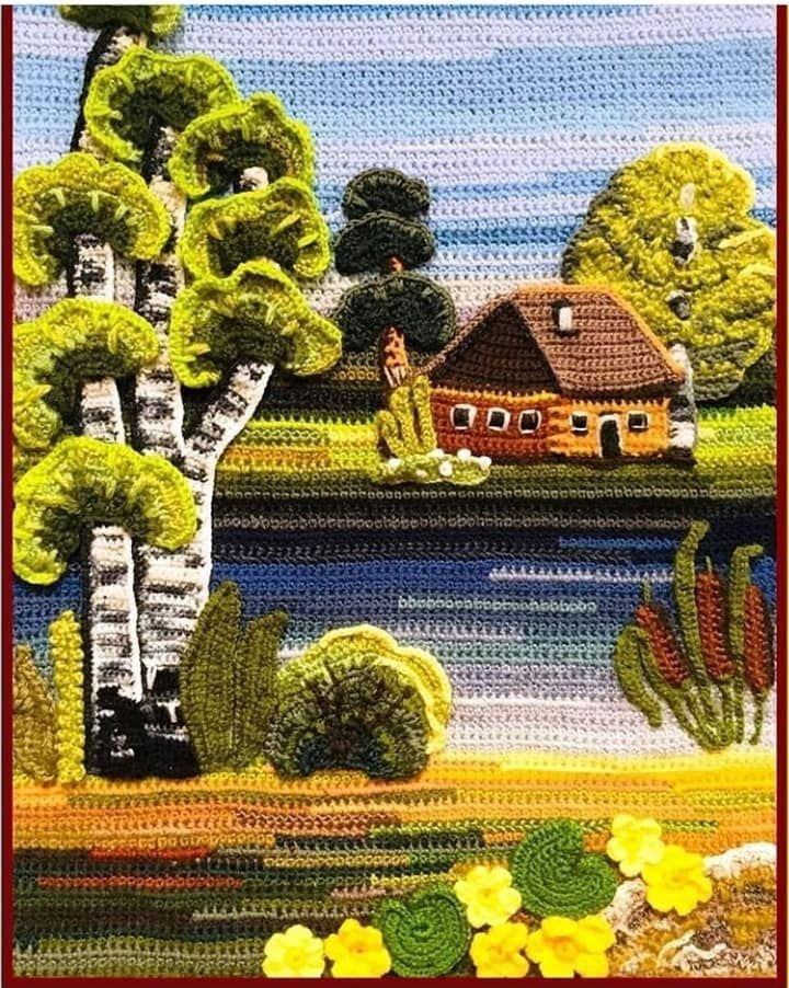 Арт ♥ Студия - вязание крючком Брест,Беларусь | Вязаный крючком ковер, Связанные крючком коврики, Вязаные крючком аппликации