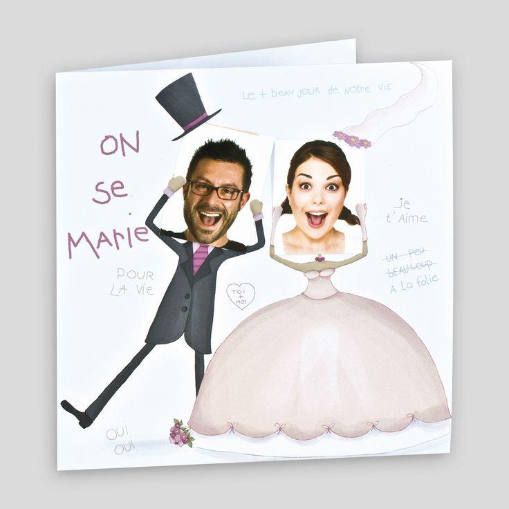 Faire-part mariage on se marie