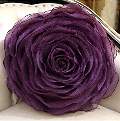 SNW Organza Round Roses Handmade Pillows, Wedding Cushion... https://www.amazon.com/dp/B00XH6YIS4/ref=cm_sw_r_pi_dp_k5cIxbQZR41MV
