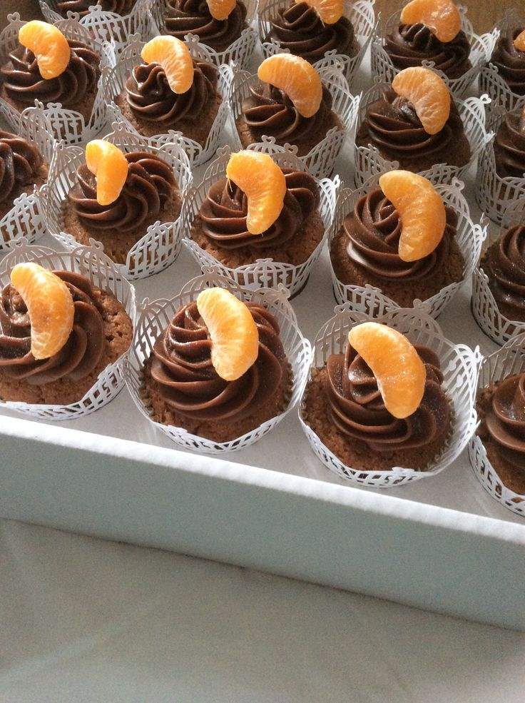 Ganache and orange cupcakes x