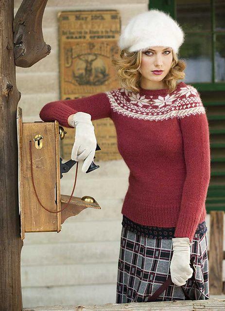 362 best FairIsle Yoke Sweaters images on Pinterest   Sew ...