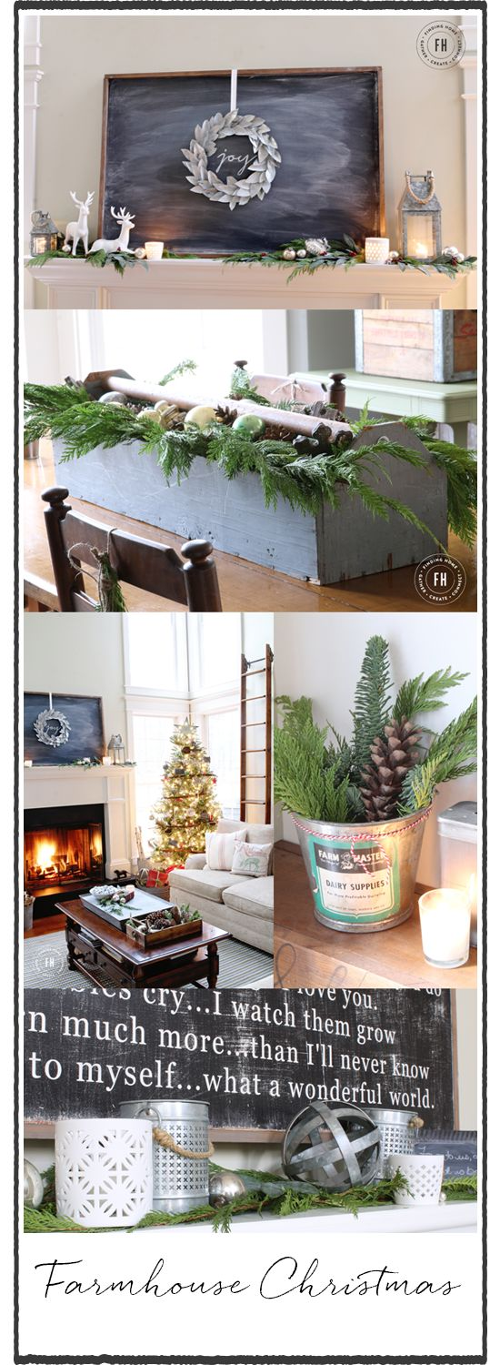 Creating a welcoming home this holiday with simple ideas and inspiration for farmhouse Christmas decorating.