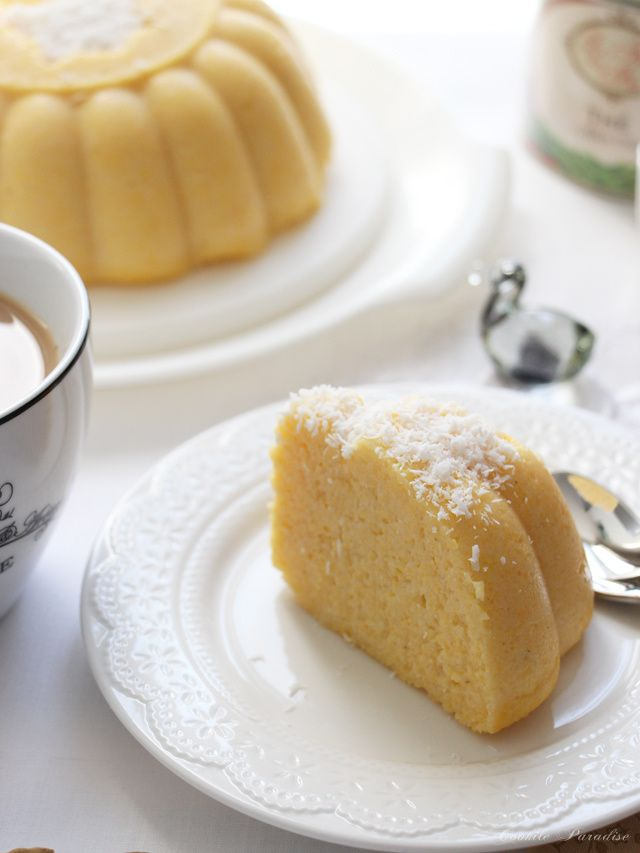 Pudding de Maïs bio à la noix de coco, le gâteau de mon enfance de ma petite Ile Maurice ♥