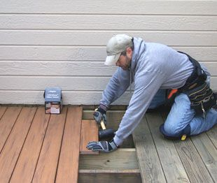 Replace wood deck with composite