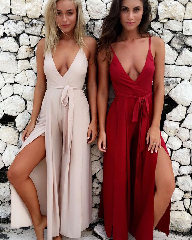 your favorite jumpsuit - the 'Just in time' back by popular demand $69.95  our girls @michaelawain & @stephrayner93  at @villaaum  @totalbali