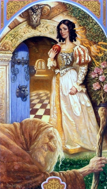 """""""Snow White"""" Art by Petar Meseldzija - A Story From The Brothers Grimm Fairy Tales - Germany (1812)"""