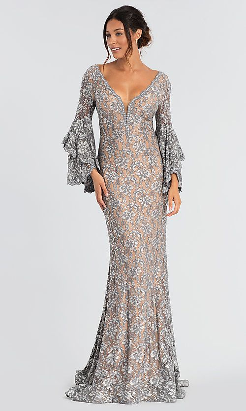 Silver Lace Mother of the Bride Dresses