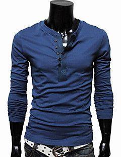 mænds+solide+langærmet+T-shirt+–+DKK+kr.+75