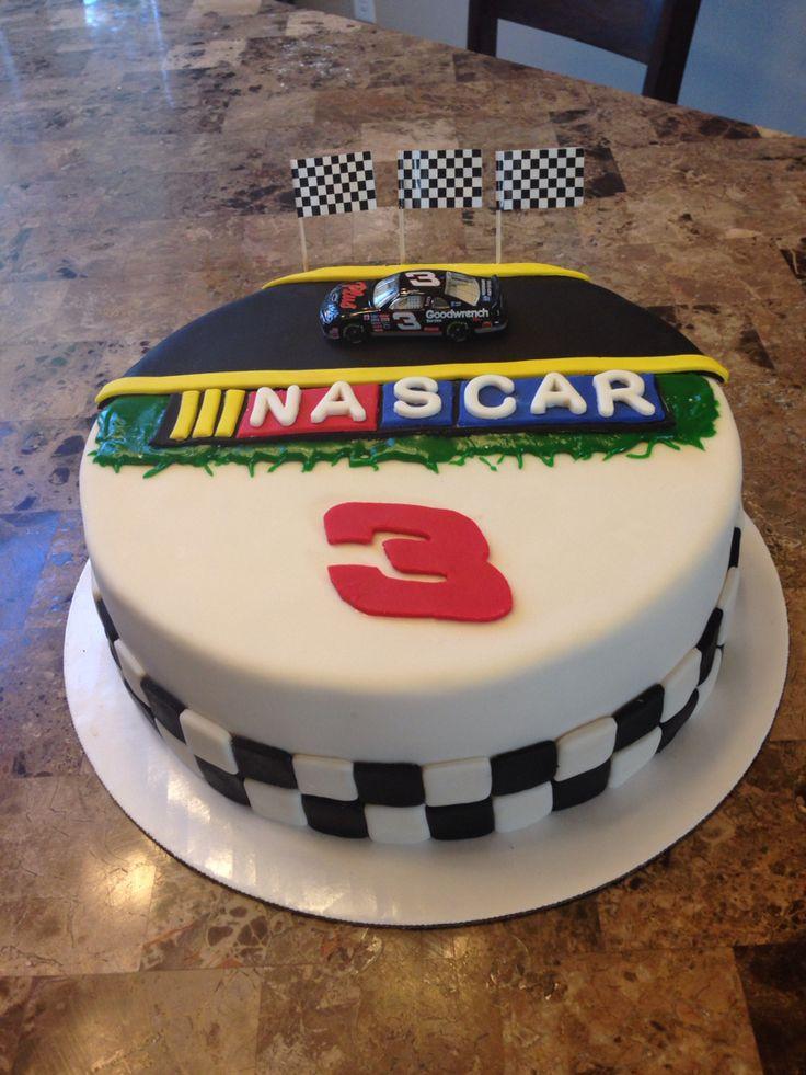 NASCAR Earnhardt Sr. Fondant Cake
