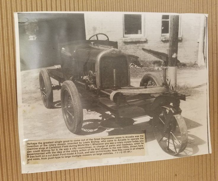 Arcadia Florida Historic photograph Rotary Mower Invented by Lewis Bishop   | Collectibles, Historical Memorabilia, Cities & Towns | eBay!