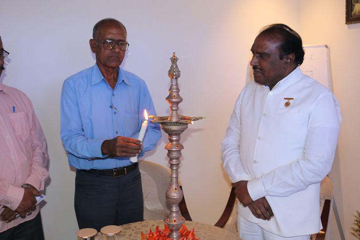 Dr. Rama Rao and Dr. G.B.K. Rao at the Meetup