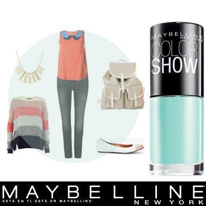 Luce fresca y casual con este #outfit y tu Color Show tono Tenacious Teal 330.