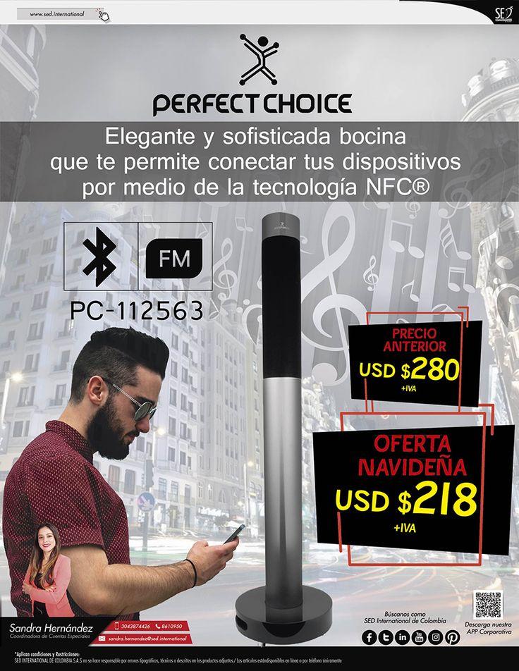 Bocina Perfect Choice: Elegante y Sofisticada: Contacta a tu gerente de producto para más información: Sandra Hernández   Celular: 304 387 4426   Email: sandra.hernandez@sed.international #SEDINTERNATIONAL #SEDCOLOMBIA