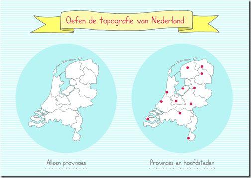 Site om topografie van Nederland te oefenen.