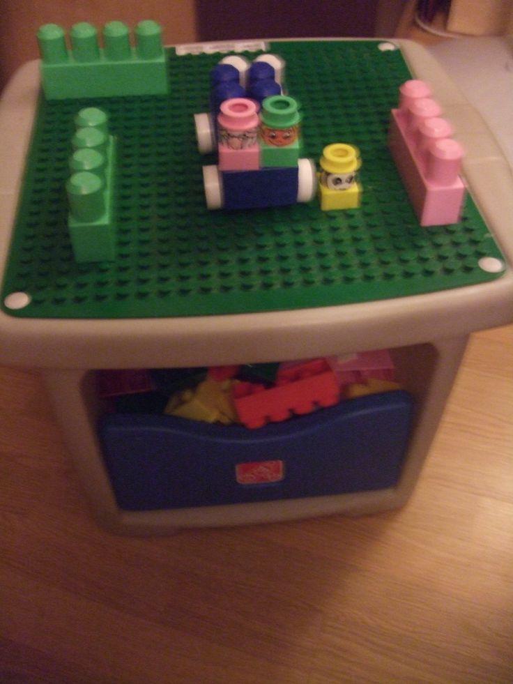 Amazon Com Step 2 Lego Duplo Mega Block Play Table With