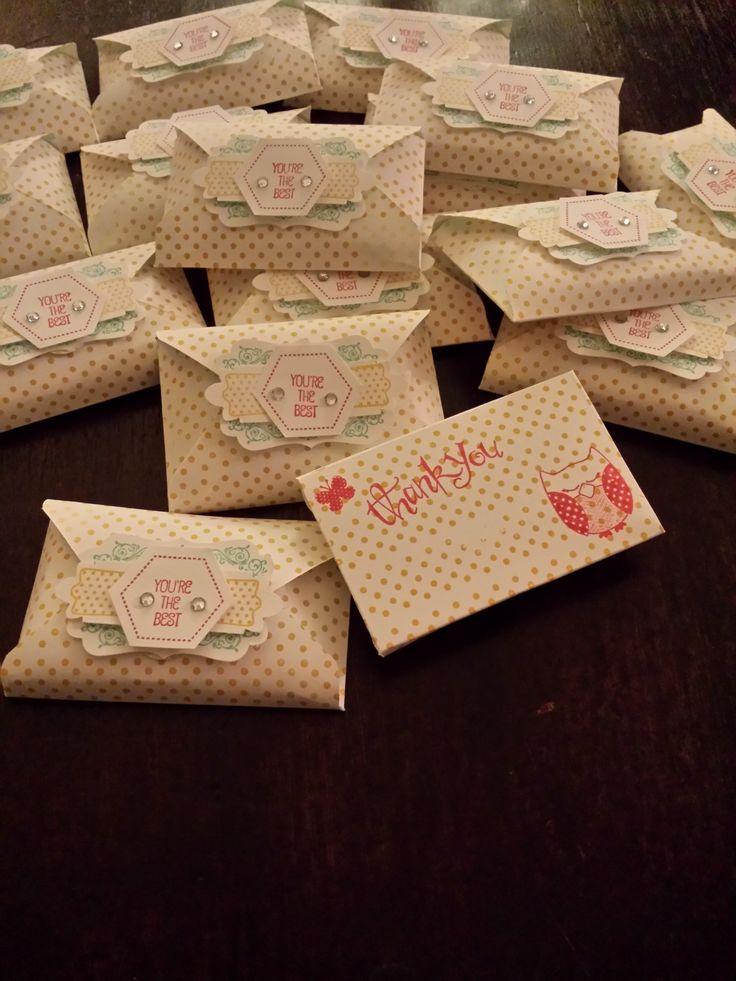 Stampin' Up: Envelope Punch Board. Traktatie voor de juffies op 'Dag van de leidster'.