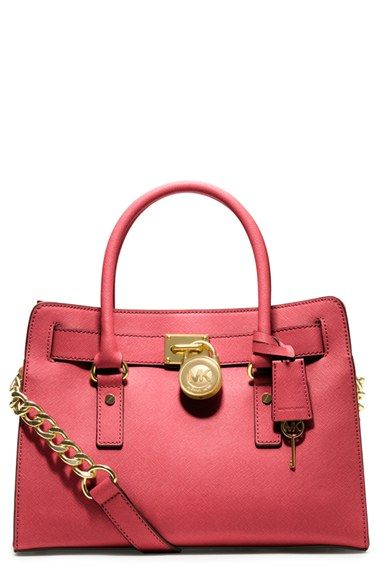 MICHAEL Michael Kors 'Hamilton' Saffiano Leather Satchel available at #Nordstrom