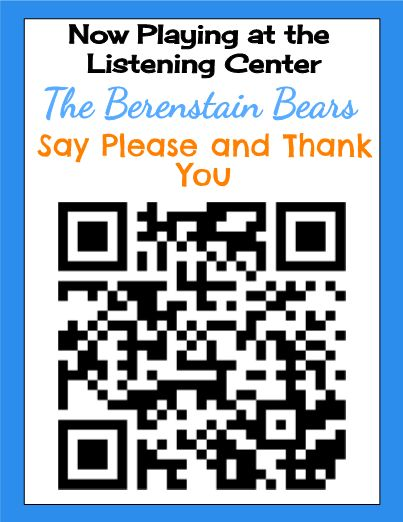 We all love listening to stories, don't we? This template brings in some favorite first grade read alouds with QR Code posters for your Firsties to scan and listen to while at the Listening Center. Included are some recommended QR scanners I've used (in case you haven't downloaded one onto your smart devices for students), and 7 favorites. Enjoy!