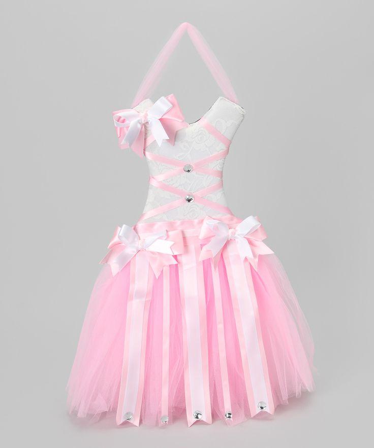 Culver Cutie Pink & White Tutu Bow Holder