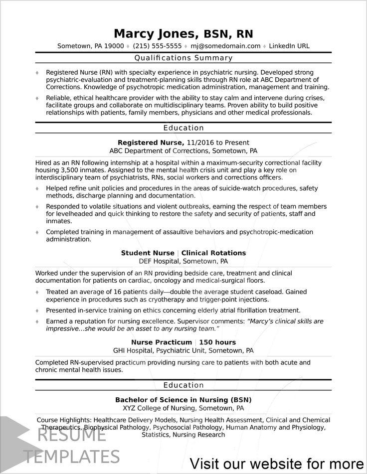 resume template free for freshers in 2020 Nursing resume