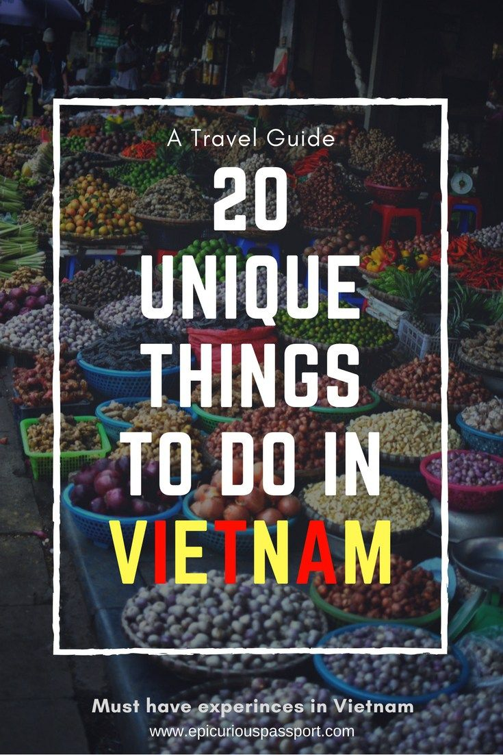 Vietnam is one of the hottest destinations right now. These unique things to do in Vietnam will ensure you have a fantastic vacation there. #Vietnam #uniquethings #vietnamtravel