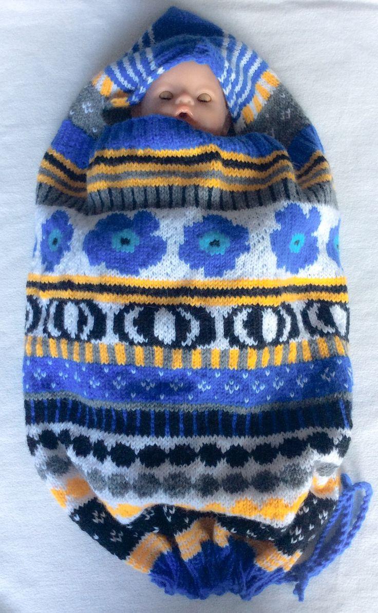 Marsa's Baby Cocoon Toukkapussi in Marimekko style