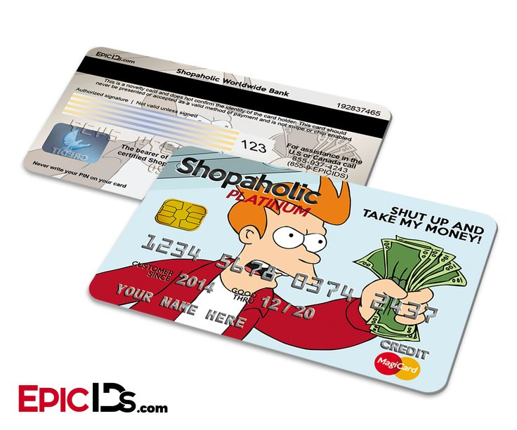 shut up and take my money credit card template www
