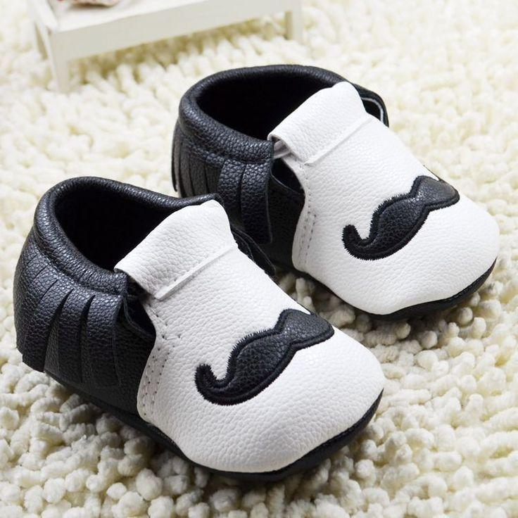 Baby Boy Mustache Shoe