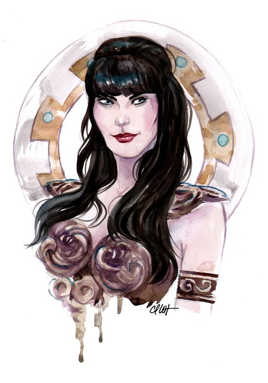 Xena Warrior Princess Art Art Print By Carlations Carla Wyzgala